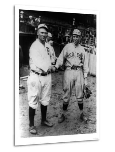 Cravath, Philadelphia Phillies, Speaker, Boston Red Sox, Baseball Photo - Philadelphia, PA-Lantern Press-Metal Print