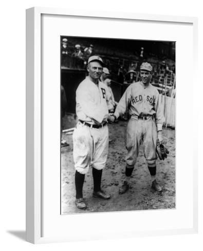 Cravath, Philadelphia Phillies, Speaker, Boston Red Sox, Baseball Photo - Philadelphia, PA-Lantern Press-Framed Art Print
