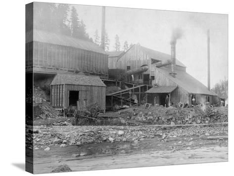 Deadwood and Delaware Smelter Photograph - Deadwood, SD-Lantern Press-Stretched Canvas Print