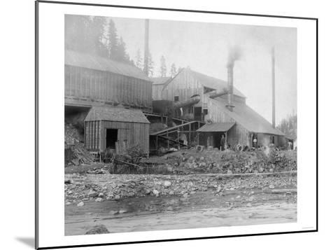 Deadwood and Delaware Smelter Photograph - Deadwood, SD-Lantern Press-Mounted Art Print