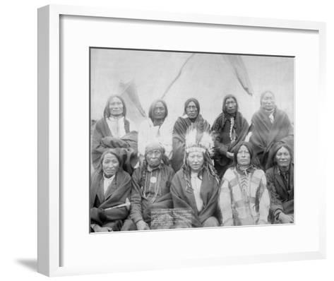 Lakota Indian Chiefs who Met General Miles to End Indian War Photograph - Pine Ridge, SD-Lantern Press-Framed Art Print