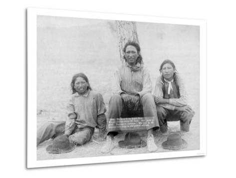 Lakota Indian Teenagers in Western Dress Photograph - Pine Ridge, SD-Lantern Press-Metal Print
