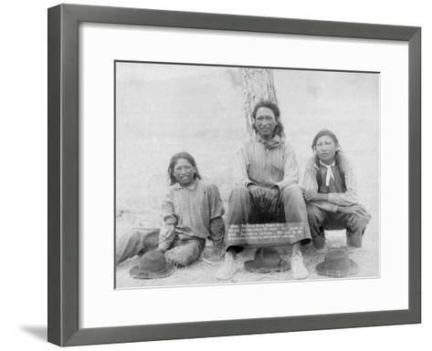 Lakota Indian Teenagers in Western Dress Photograph - Pine Ridge, SD-Lantern Press-Framed Art Print