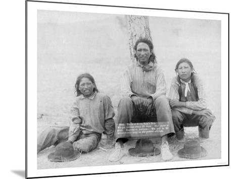 Lakota Indian Teenagers in Western Dress Photograph - Pine Ridge, SD-Lantern Press-Mounted Art Print