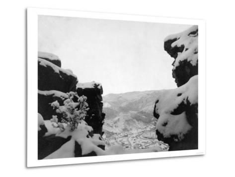 Deadwood as Seen from White Rocks Photograph - Deadwood, SD-Lantern Press-Metal Print