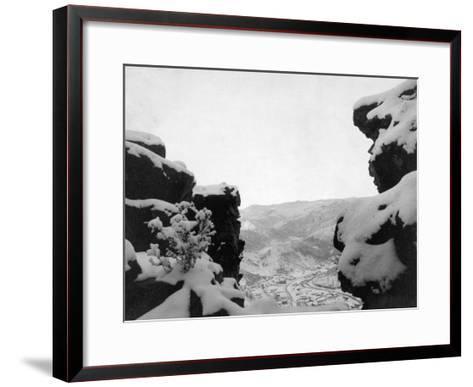 Deadwood as Seen from White Rocks Photograph - Deadwood, SD-Lantern Press-Framed Art Print