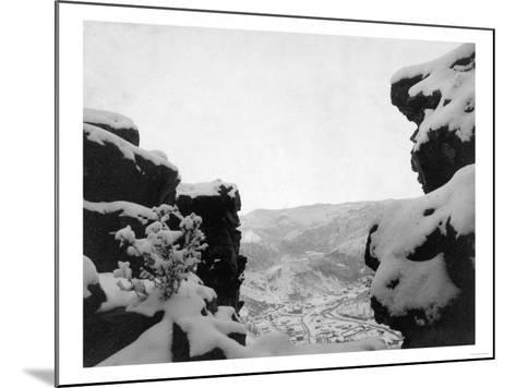 Deadwood as Seen from White Rocks Photograph - Deadwood, SD-Lantern Press-Mounted Art Print