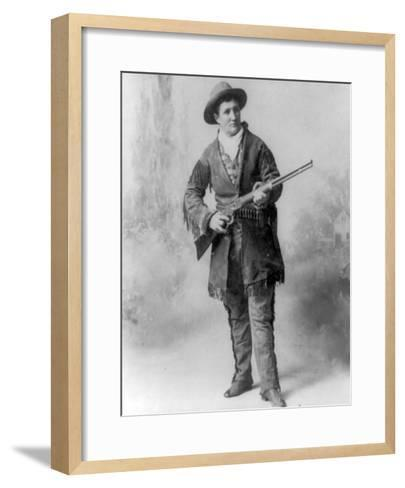 "Martha Canary ""Calamity Jane"" Portrait Photograph-Lantern Press-Framed Art Print"