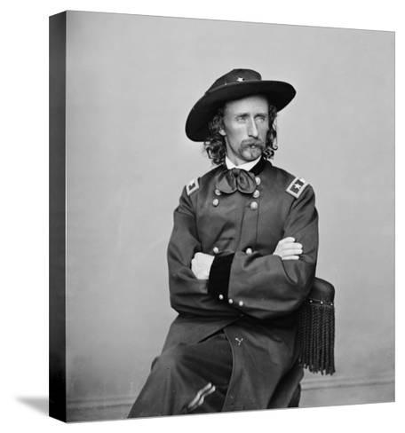 General George Custer Photograph No.1-Lantern Press-Stretched Canvas Print