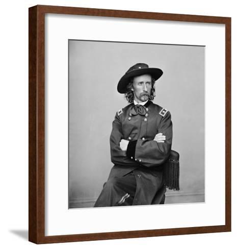 General George Custer Photograph No.1-Lantern Press-Framed Art Print
