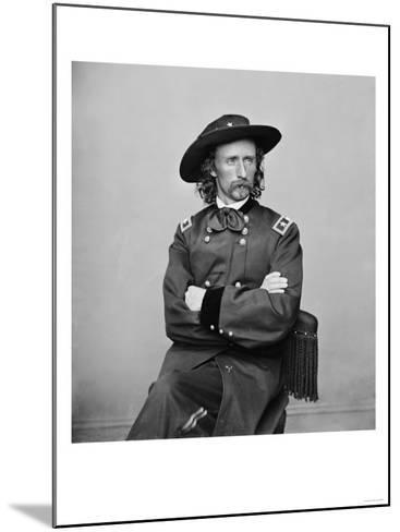 General George Custer Photograph No.1-Lantern Press-Mounted Art Print