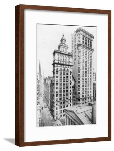 Gillender & Hanover Bank Buildings New York, NY Photo - New York, NY-Lantern Press-Framed Art Print