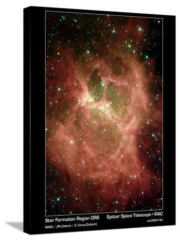Star Formation in Region DR6 Photograph - Outer Space-Lantern Press-Stretched Canvas Print