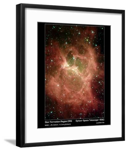 Star Formation in Region DR6 Photograph - Outer Space-Lantern Press-Framed Art Print