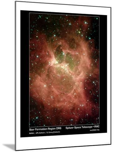 Star Formation in Region DR6 Photograph - Outer Space-Lantern Press-Mounted Art Print