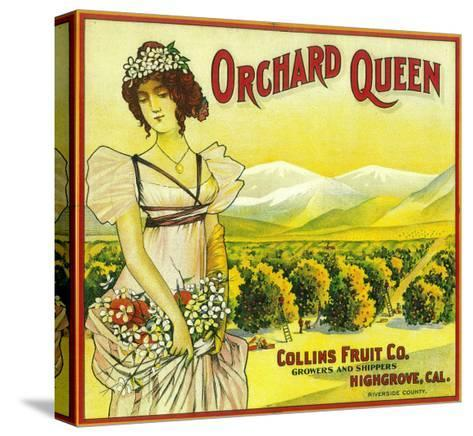 Orchard Queen Orange Label - Highgrove, CA-Lantern Press-Stretched Canvas Print