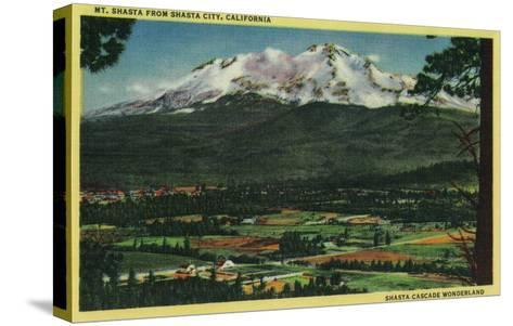 Mt. Shasta View from Shasta City - Shasta, CA-Lantern Press-Stretched Canvas Print