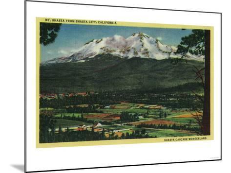 Mt. Shasta View from Shasta City - Shasta, CA-Lantern Press-Mounted Art Print