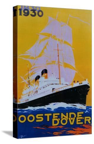 Oostende Dover Vintage Poster - Europe-Lantern Press-Stretched Canvas Print
