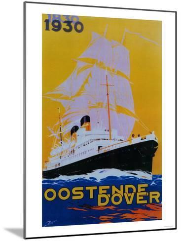 Oostende Dover Vintage Poster - Europe-Lantern Press-Mounted Art Print