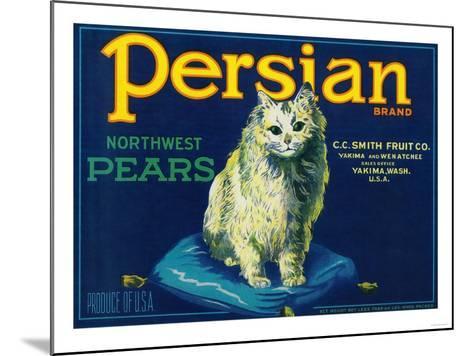 Persian Pear Crate Label - Yakima, WA-Lantern Press-Mounted Art Print