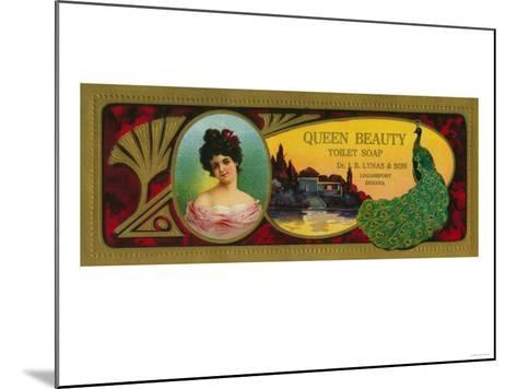 Queen Beauty Soap Label - Logansport, IN-Lantern Press-Mounted Art Print