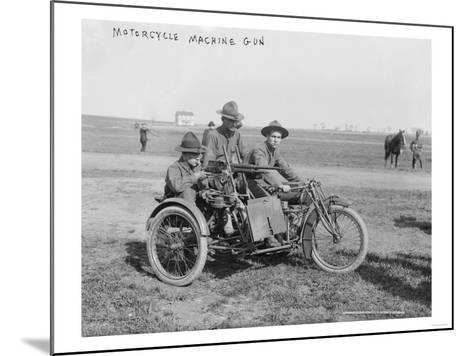 Military Motorcycle with Sidecar and Machine Gun Photograph-Lantern Press-Mounted Art Print
