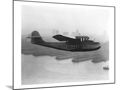 Pan American China Clipper and San Francisco Skyline Photograph No.2 - San Francisco, CA-Lantern Press-Mounted Art Print