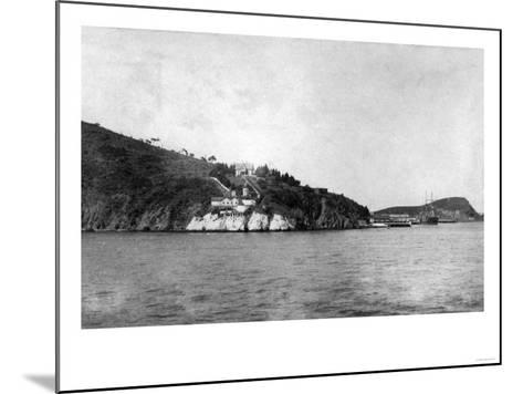 San Francisco, CA Yerba Buena Island and Lighthouse Photograph - San Francisco, CA-Lantern Press-Mounted Art Print
