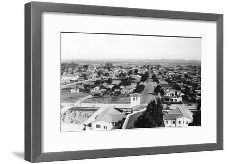 Palm Springs, California Town View Photograph - Palm Springs, CA-Lantern Press-Framed Art Print