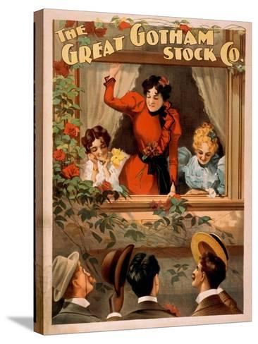 The Great Gotham Stock Co. Theatre Poster-Lantern Press-Stretched Canvas Print
