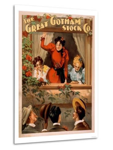 The Great Gotham Stock Co. Theatre Poster-Lantern Press-Metal Print