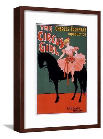 The Circus Girl - Woman on Horse Theatrical Poster-Lantern Press-Framed Art Print