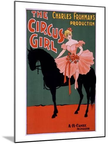 The Circus Girl - Woman on Horse Theatrical Poster-Lantern Press-Mounted Art Print