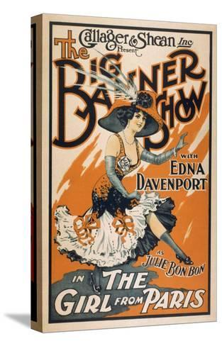 """The Big Banner Show """"The Girl from Paris"""" Poster-Lantern Press-Stretched Canvas Print"""