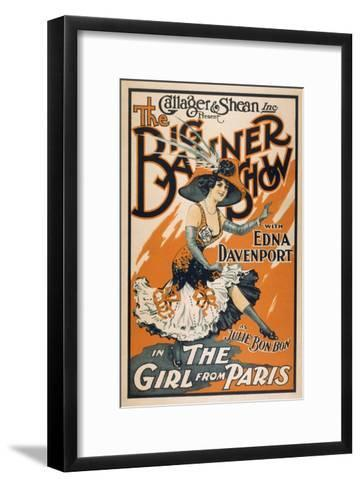 "The Big Banner Show ""The Girl from Paris"" Poster-Lantern Press-Framed Art Print"