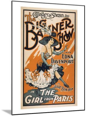 """The Big Banner Show """"The Girl from Paris"""" Poster-Lantern Press-Mounted Art Print"""