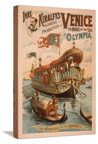 Venice, Bride of the Sea at Olympia Gondolas Poster No.3-Lantern Press-Stretched Canvas Print