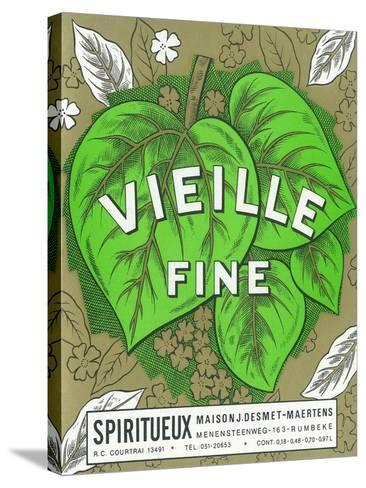 Vieille Fine Wine Label - Europe-Lantern Press-Stretched Canvas Print
