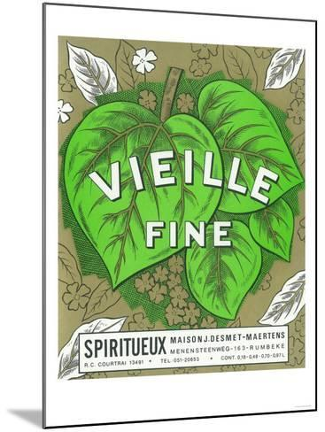 Vieille Fine Wine Label - Europe-Lantern Press-Mounted Art Print