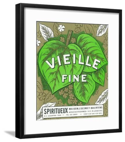 Vieille Fine Wine Label - Europe-Lantern Press-Framed Art Print