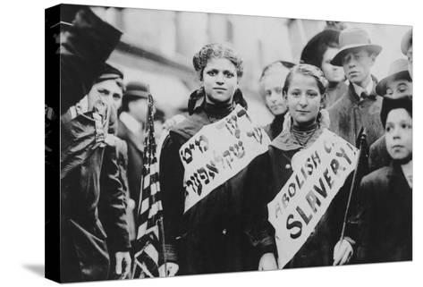 Protest Against Child Labor in Labor Parade Photograph - New York, NY-Lantern Press-Stretched Canvas Print