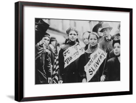 Protest Against Child Labor in Labor Parade Photograph - New York, NY-Lantern Press-Framed Art Print