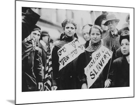 Protest Against Child Labor in Labor Parade Photograph - New York, NY-Lantern Press-Mounted Art Print
