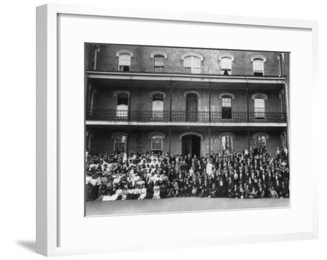 Student Body at Berea College Photograph - Berea, KY-Lantern Press-Framed Art Print
