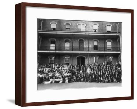 Student Body at Berea College Photograph - Berea, KY-Lantern Press-Framed Art Print