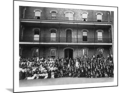 Student Body at Berea College Photograph - Berea, KY-Lantern Press-Mounted Art Print