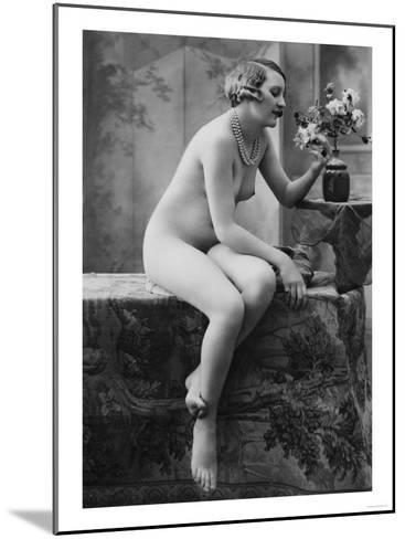 Nude Woman French Art Nouveau Photograph No.5 - France-Lantern Press-Mounted Art Print