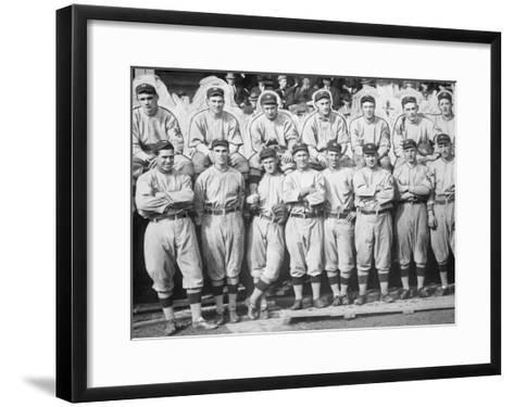 NY Giants Team, Baseball Photo No.1 - New York, NY-Lantern Press-Framed Art Print