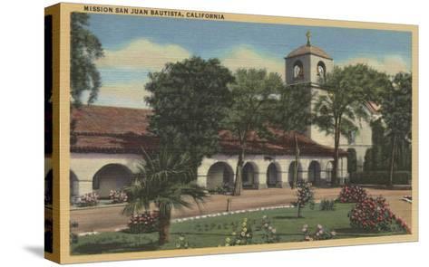 Mission San Juan Bautista, California - San Juan Bautista, CA-Lantern Press-Stretched Canvas Print